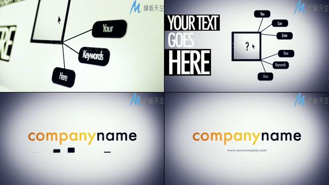 简洁商务宣传企业图表AE模板