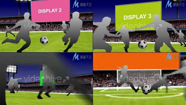 足球比赛世界杯场景特效制作AE模板