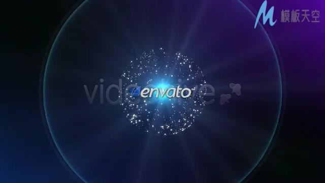 简洁好看的光效粒子企业宣传晚会片头AE模板