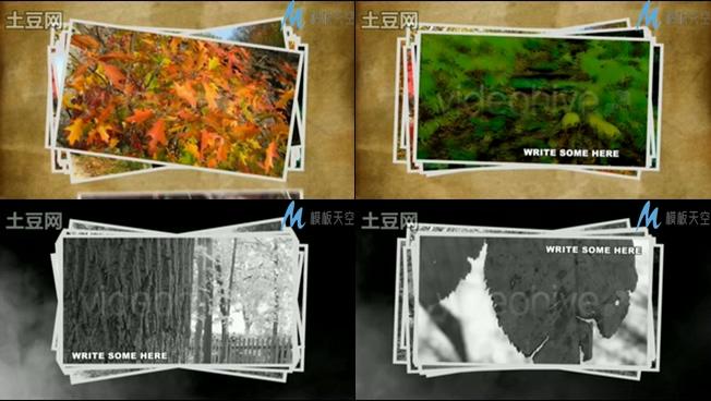 时光岁月流逝生活记录照片相册AE模板