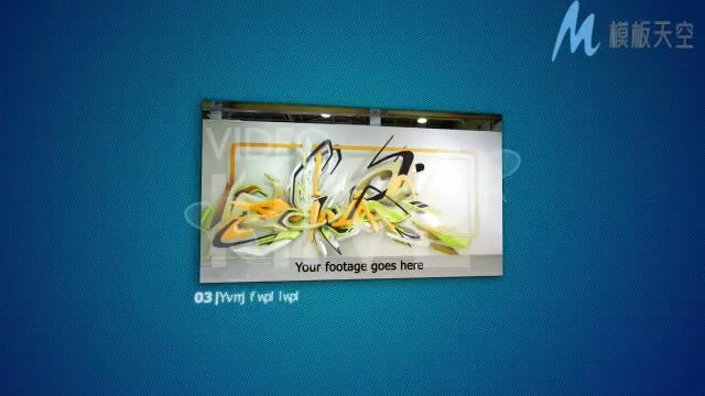 花纹光效科技感商务宣传展示片头AE模板