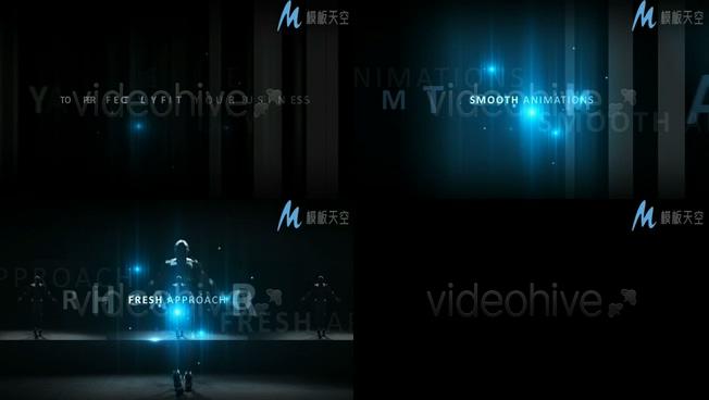 大气震撼的光效粒子图文宣传片头AE模板