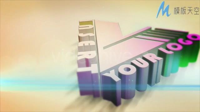 企业3D立体文字logo片头AE模板