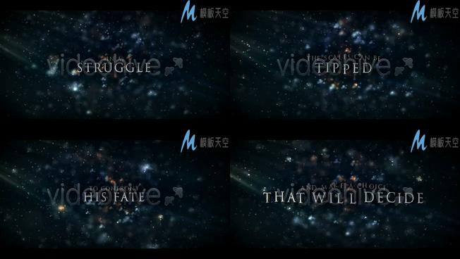玄幻好莱坞电影预告片头视频AE模板