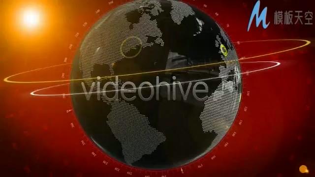 地球仪世界新闻栏目包装制作AE模板