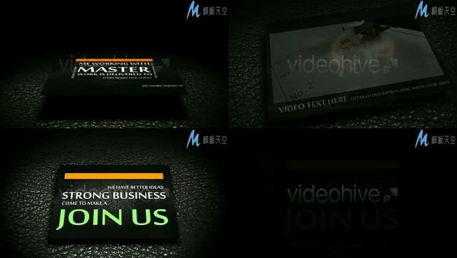公司产品宣传户外广告展示AE模板