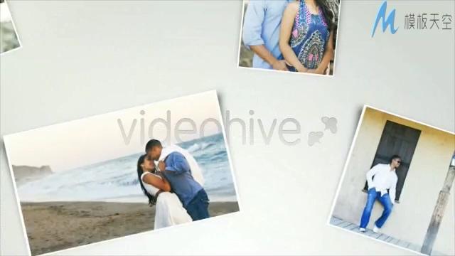 婚礼现场大屏幕甜蜜爱情相册展示AE模板