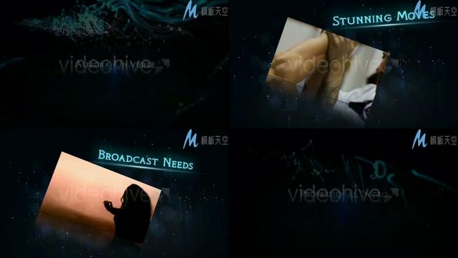 紧张节奏晚会片头视频预告片AE模板