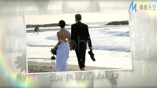 婚礼时刻幸福相册AE模板