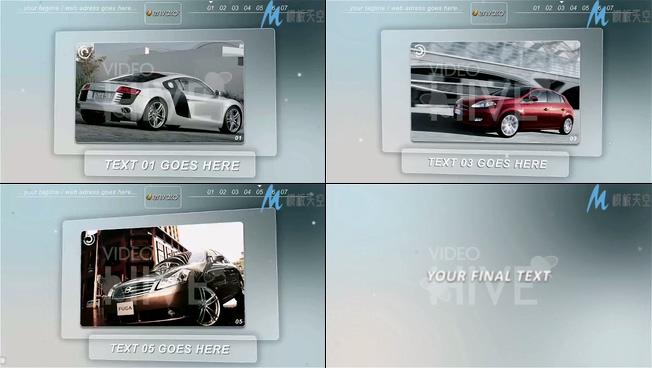 产品宣传展示在LED大屏幕上的AE模板