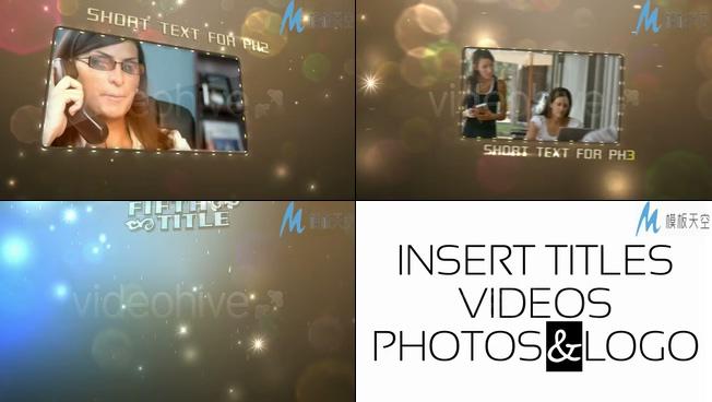 金色立体空间感节目预告片视频AE模板