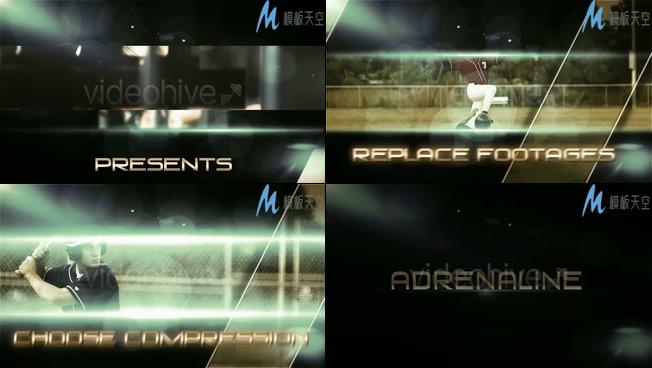 体育节目微电影预告片头AE模板
