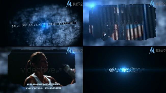 宣传片开场震撼光效视频AE模板