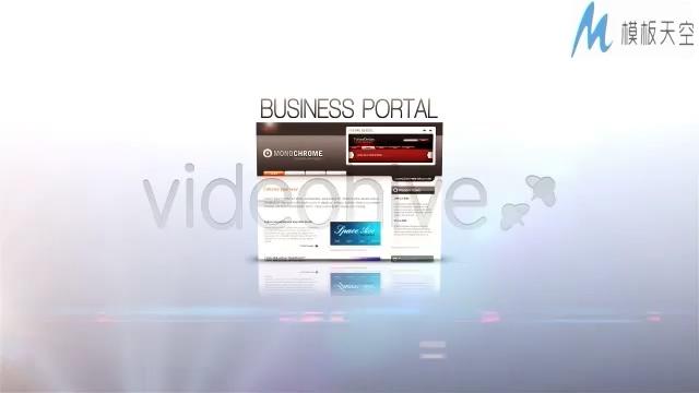 简洁的互联网公司科技网站介绍宣传AE模板