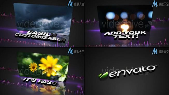 动感音乐节奏晚会视频AE模板