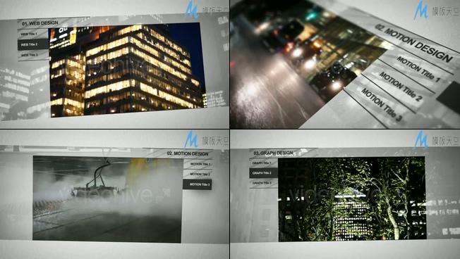 轻快的LED视频企业宣传视频AE模板