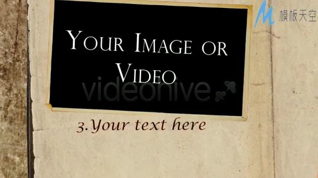 书本老旧照片回忆相册AE模板