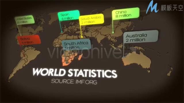 信息图表百分比展示介绍AE模板