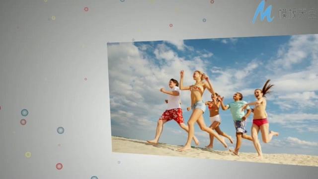 愉快的假期家庭旅游相册AE模板