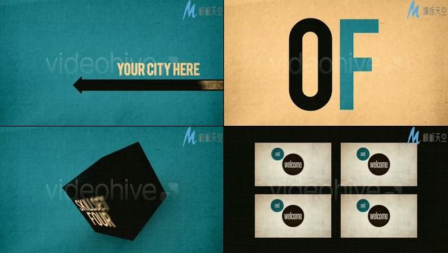 公司个人介绍广告宣传视频AE模板
