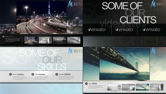 商业户外广告屏幕展示AE模板
