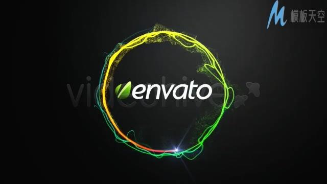 简约的闪亮粒子圆形logo经典企业片头AE模板