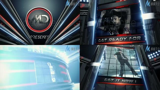 动感音乐节3D大屏幕视频效果AE模板