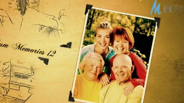 温馨家庭相册生活记录回忆视频AE模板