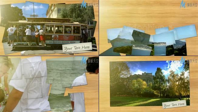 轻快的照片展示适合婚礼、同学、家庭、儿童等视频相册