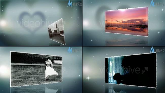 浪漫粒子婚礼照片墙介绍视频ae模板