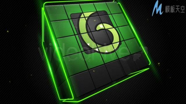 立方体展示图标视频ae模板