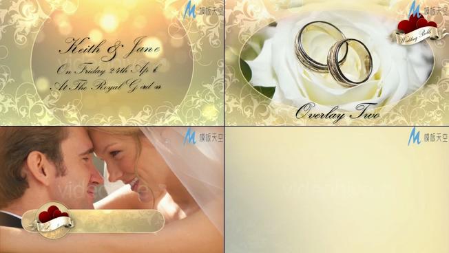 浪漫唯美的梦幻婚礼视频ae模板