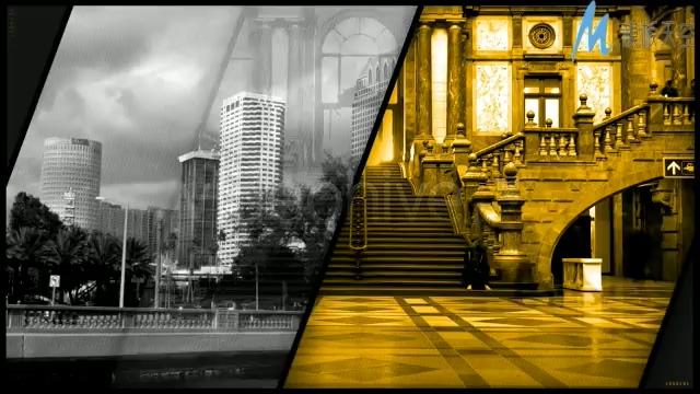 记录快节奏城市生活的视频ae模板