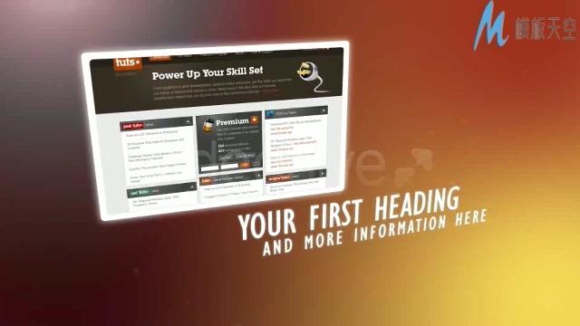 产品介绍展示网站论坛推广宣传视频AE模板