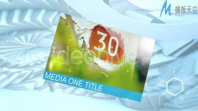 高科技美术背景图片展示视频ae模板