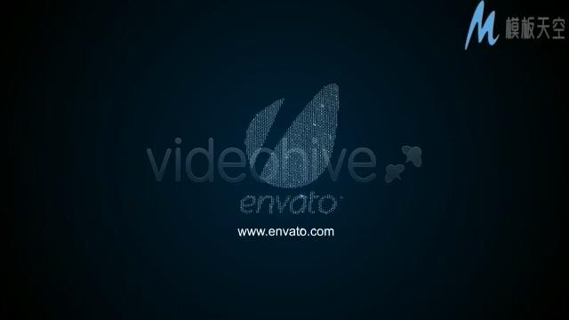 砖石汇聚合成logo的科幻片头视频AE模板
