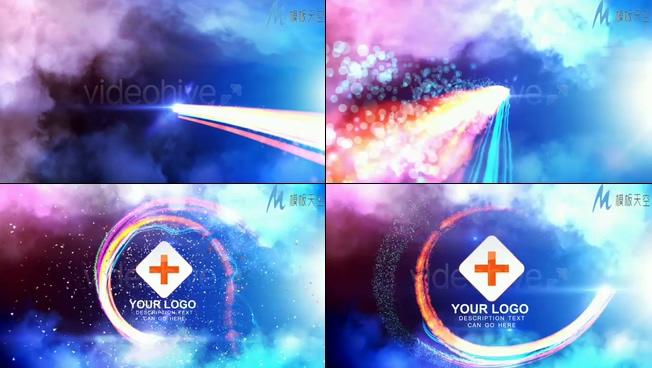 光效粒子运动的经典小视频片头AE模板