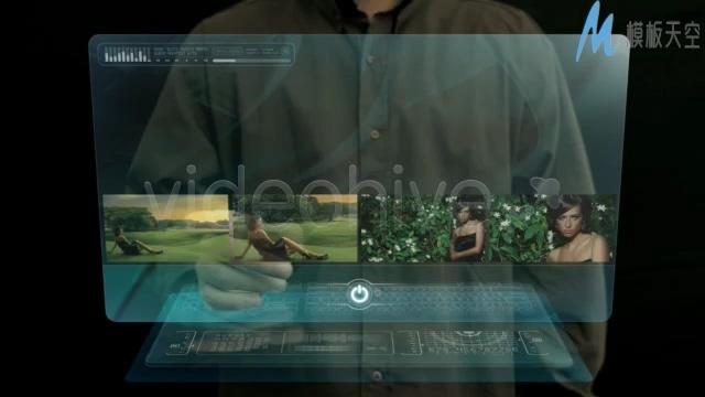 高科技半透明掌上电脑app宣传ae模板