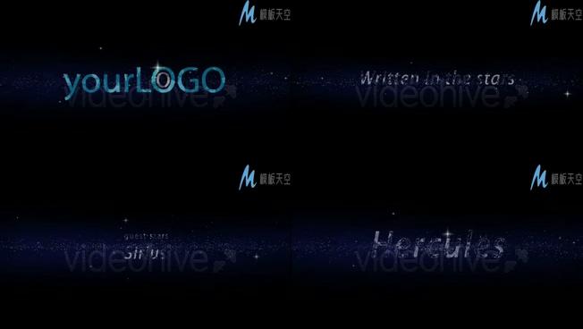 浪漫唯美星空粒子组成logo的视频ae模板