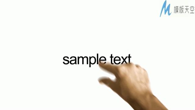 手指控制屏幕的高科技视频ae模板