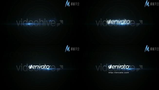 高科技企业logo组成视频ae模板