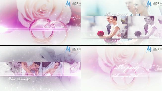 浪漫唯美的婚纱照展示视频模板