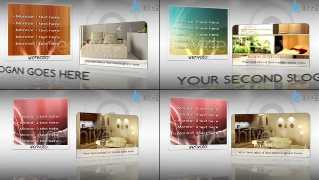 时尚家居生活展示视频ae模板