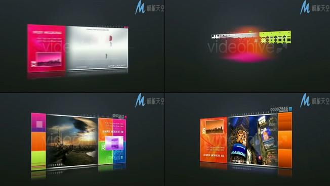 企业宣传的视频素材ae模板