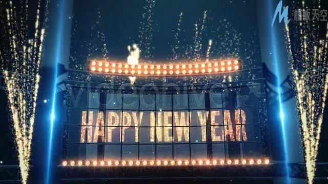 烟花簇拥的新年倒计时视频ae模板