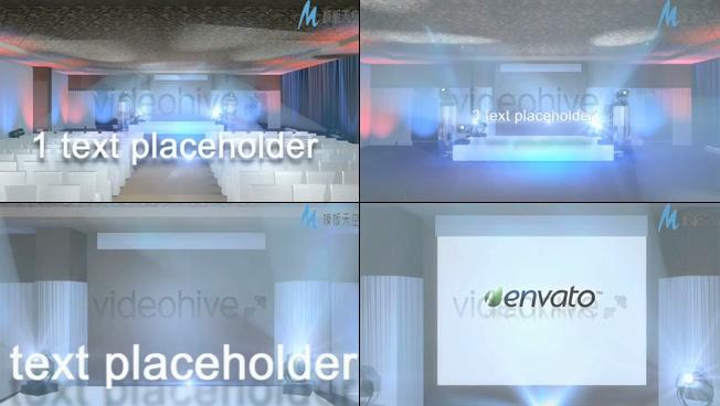 商务宣传活动舞台视频ae模板