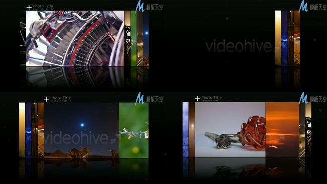 可运动的创意照片墙展示视频ae模板