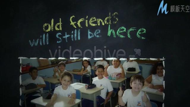 回忆校园时光美好的视频ae模板