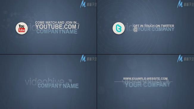 企业宣传介绍的经典视频ae模板