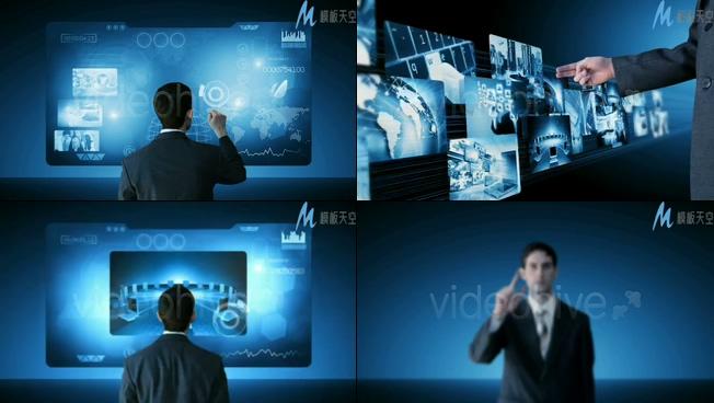 高科技商业管理宣传视频ae模板